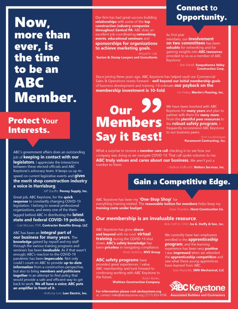 ABC Keystone Member Testimonials