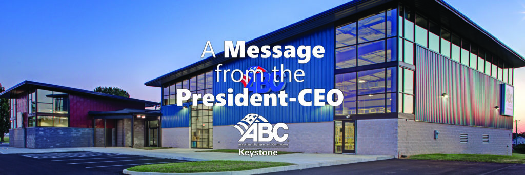 ABC Keystone Message from the President