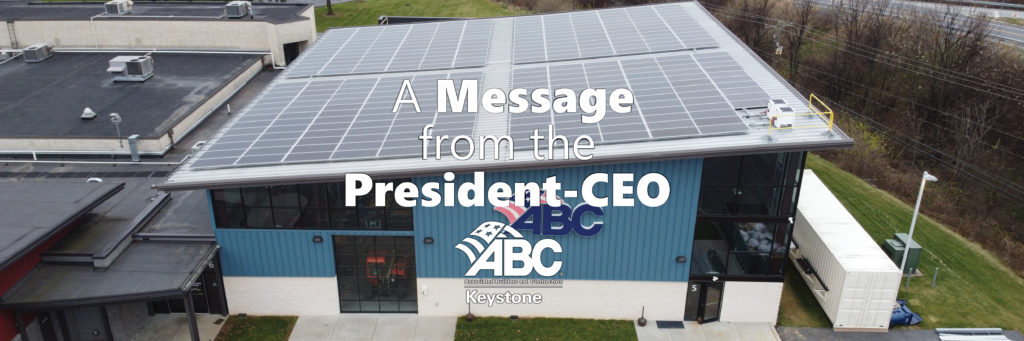 Message from the President-CEO ABC Keystone