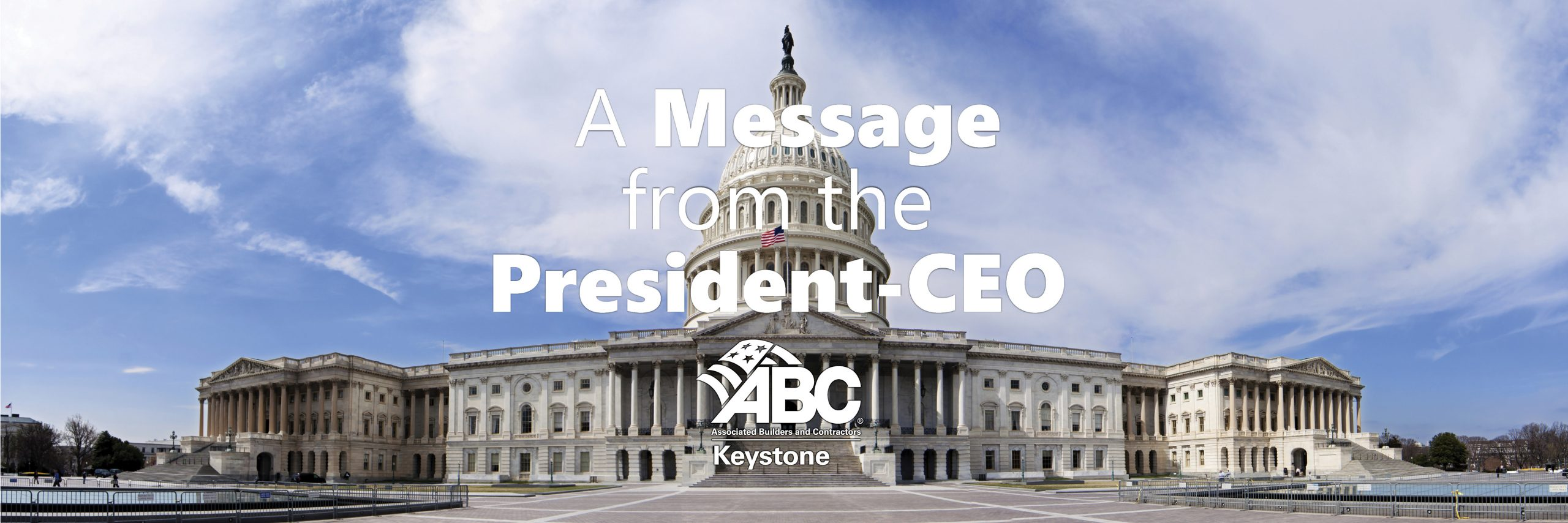 Message from the President CEO ABC Keystone March 2021
